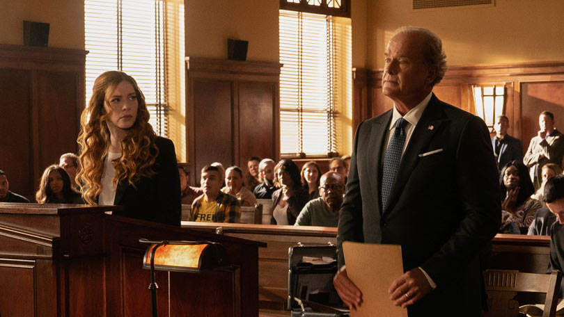 Proven Innocent episode 1 - Kelsey Grammer and Rachelle Lefevre