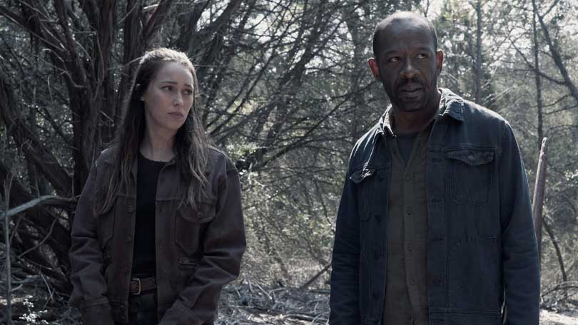 Lennie James and Alycia Debnam Carey in Fear the Walking Dead