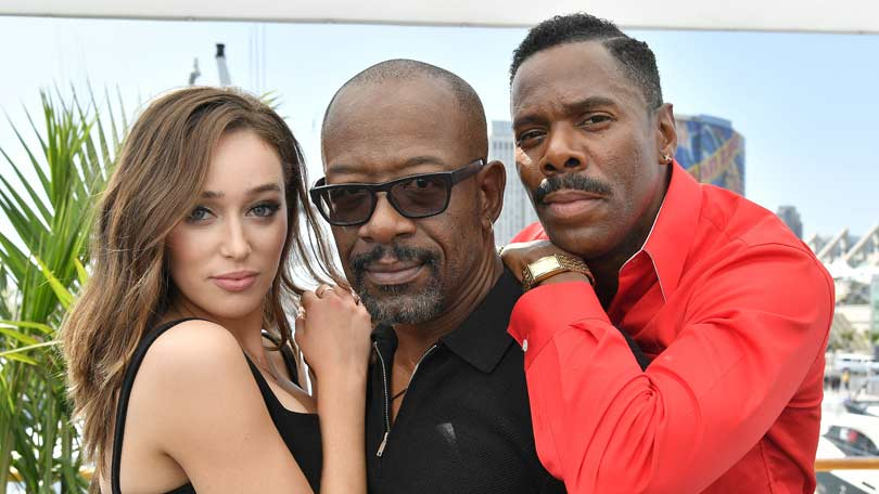 Lennie James with Fear the Walking Dead co-stars Alycia Debnam Carey and Colman Domingo