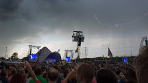 Lightning at Glastonbury