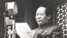 Mao Tse-Tung declares the establishment of the People's Republic of China.