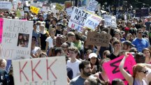 Massive protest forces Boston 'free speech rally' to be cut short