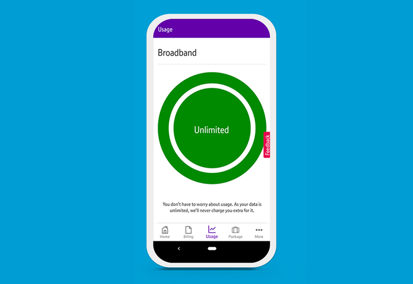 My BT app with broadband use