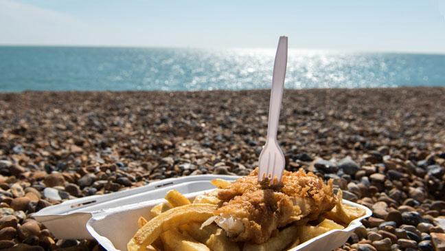 Image result for fish and chips seaside