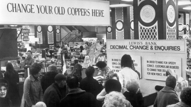 February 15, 1971: All change as Britain switches to decimal