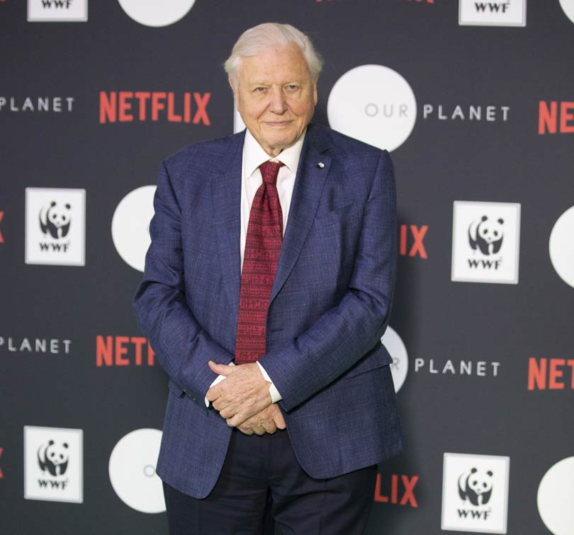 Sir David Attenborough at the Our Planet launch