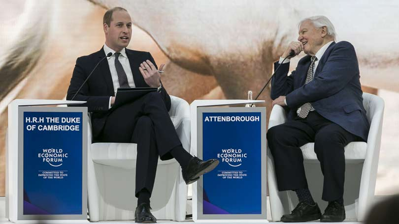 Prince William and Sir David Attenborough