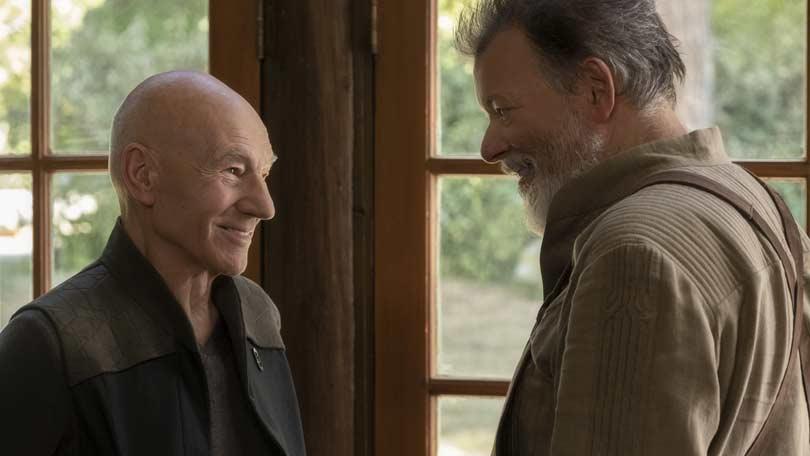 Jonathan Frakes as Rider and Patrick Stewart as Picard in Star Trek Picard