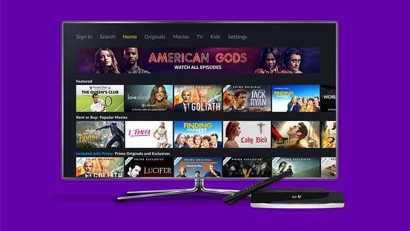 Amazon Prime Video on BT TV