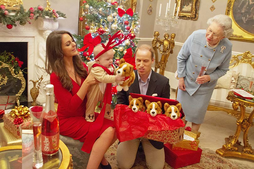 Prince George's first Christmas - in pictures