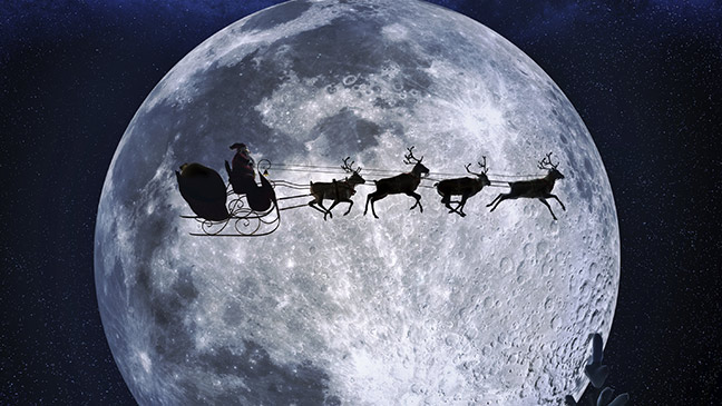Which Organization Tracks Santas Flight On Christmas Eve.December 24 1955 Father Christmas Tracked For The First