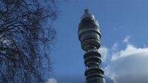 BT Tower with tree nearby