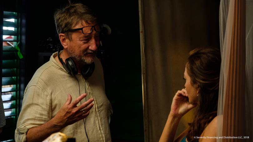 Steven Knight on the set of Serenity