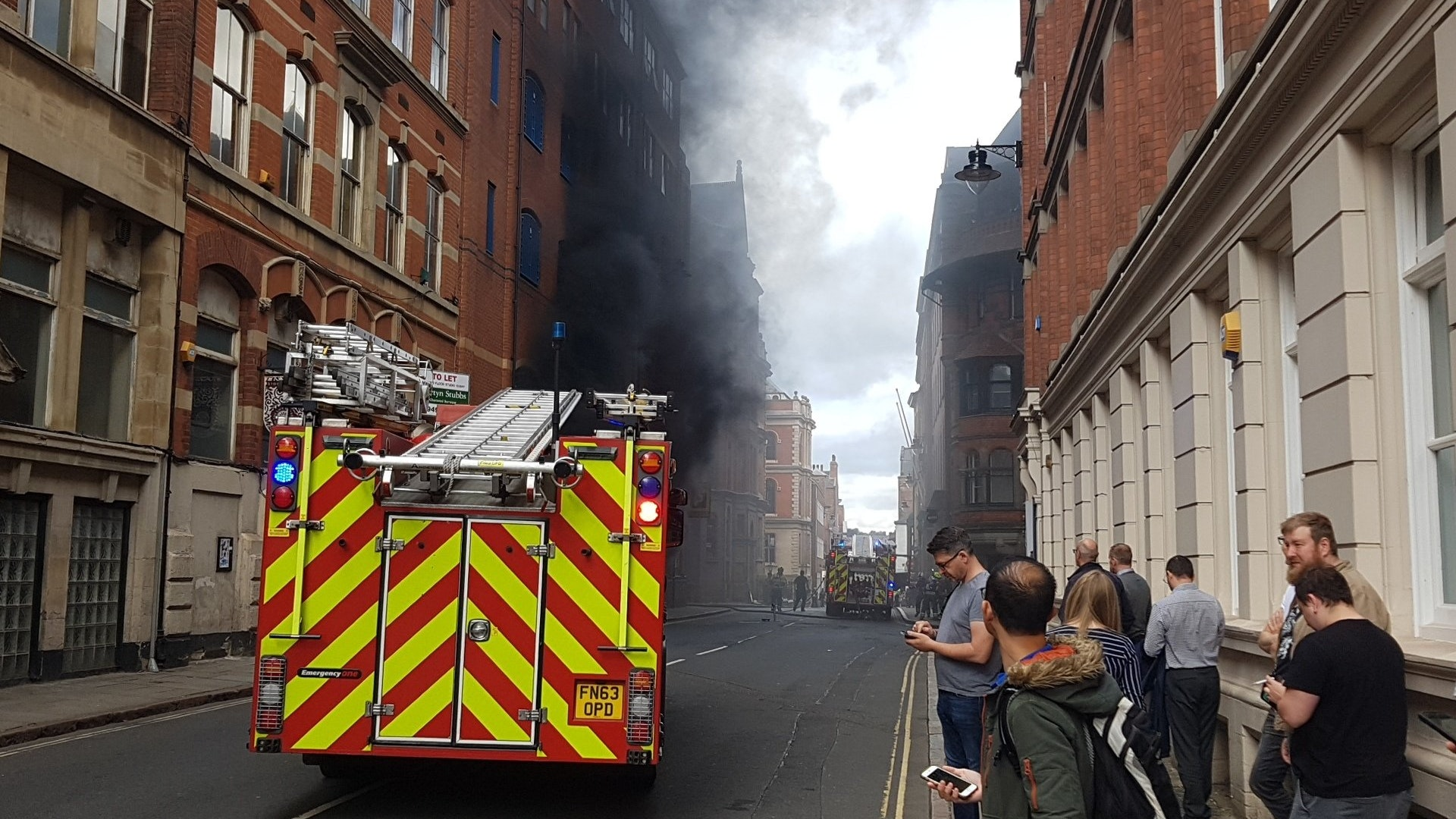 vehicles feared damaged  multi storey car park fire bt