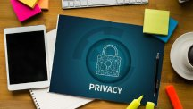 Online Privacy on paper with phone