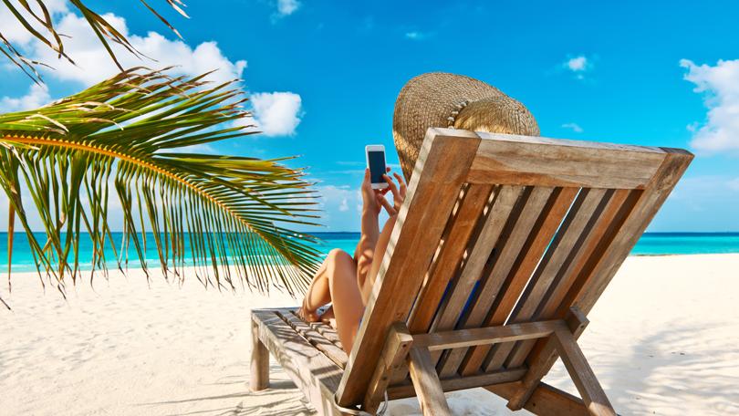 Smartphone beach