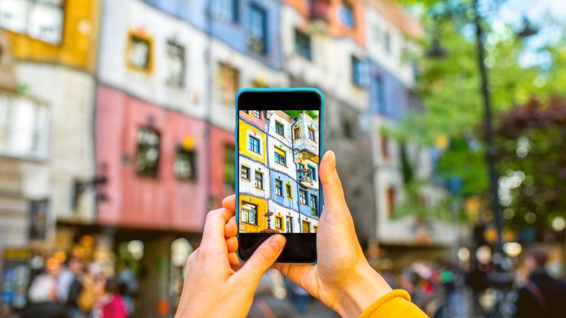 Smartphone photo building