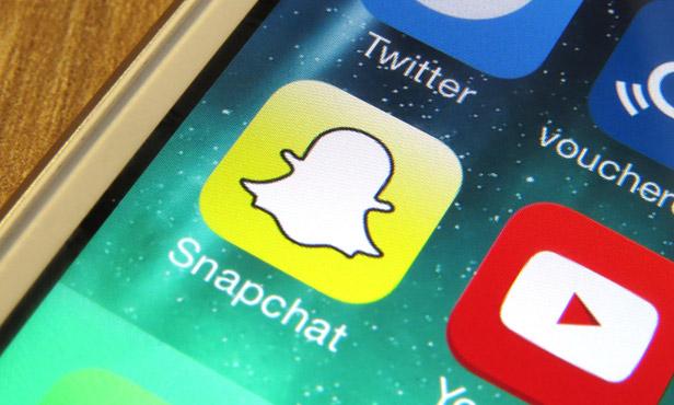 Snapchat icon on phone