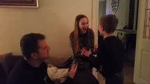 Snow day: The heartwarming moment two children find out school's cancelled