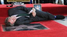Stephen Fry sings praises of Hugh Laurie as his Hollywood Walk of Fame star is unveiled