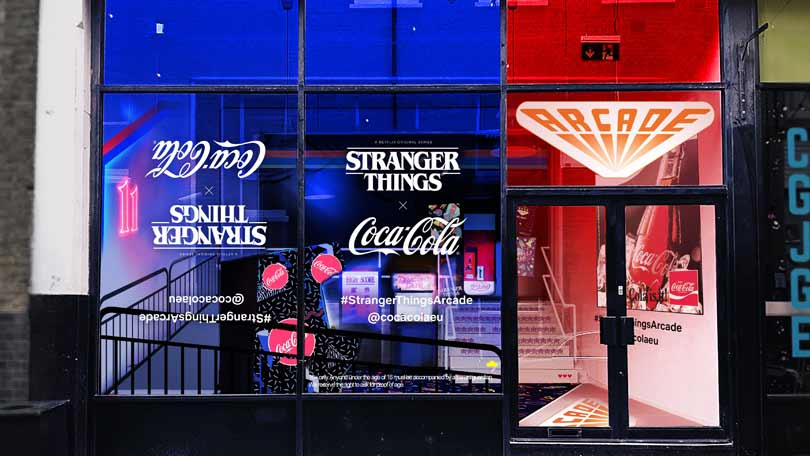 Stranger Things arcade opening in Shoreditch London