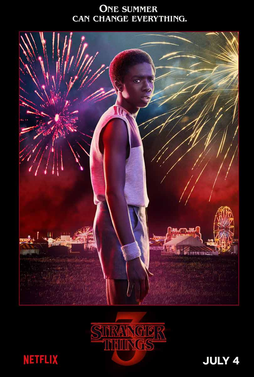Caleb McLaughlin as Lucas Sinclair in Stranger Things season 3