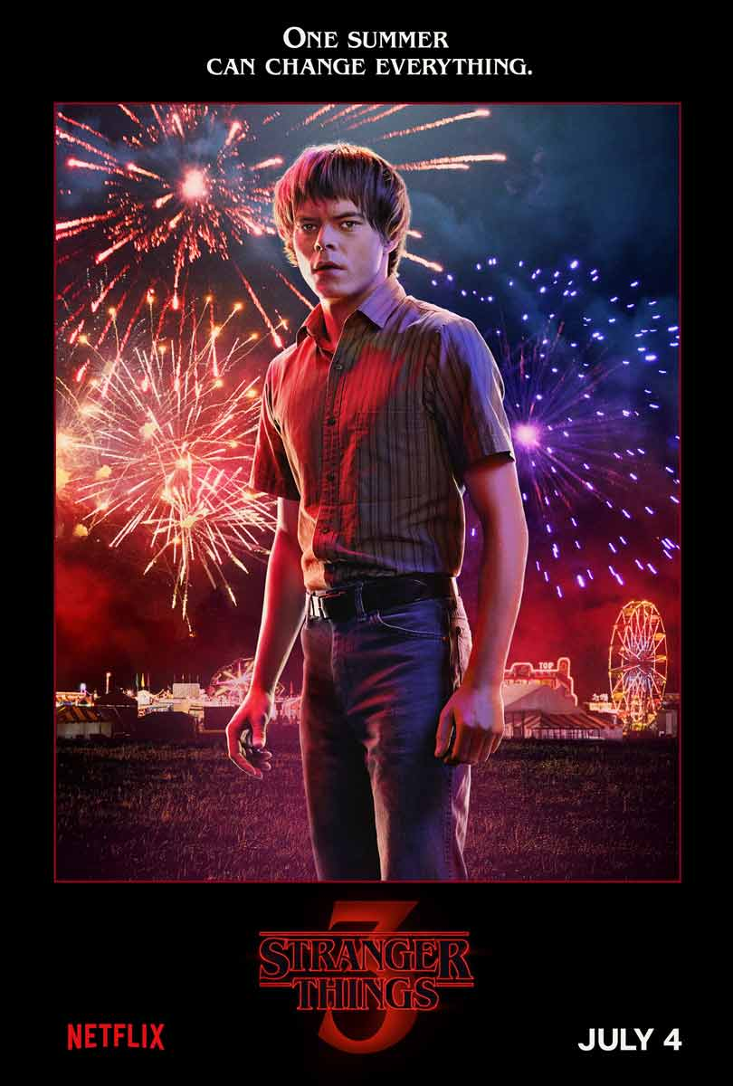 Charlie Heaton as Jonathan Byers in Stranger Things season 3