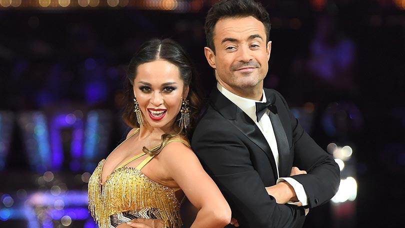 Joe Mcadden and Katya Jones on Strictly Come Dancing