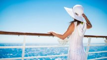 Woman on cruise