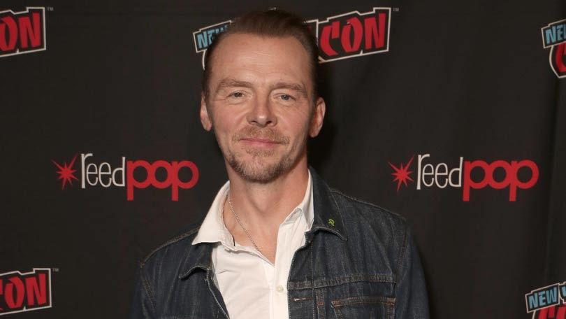 Simon Pegg plays Hughie's father in The Boys