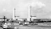 The Calder Hall reactor at Sellafield, the world's first commercial nuclear power station.