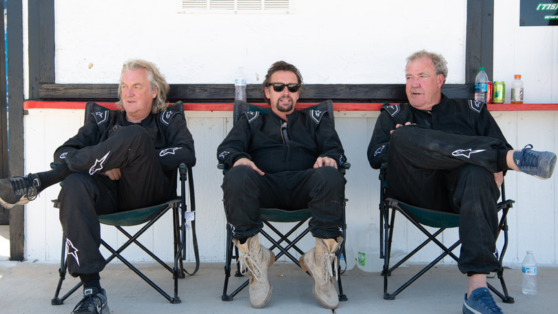 The Grand Tour series 3 - Filming in Nevada, James May, Jeremy Clarkson and Richard Hammond