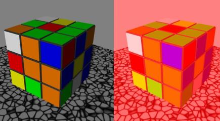 These Rubik's Cubes will help explain optical illusions and how our brains perceive the colour green