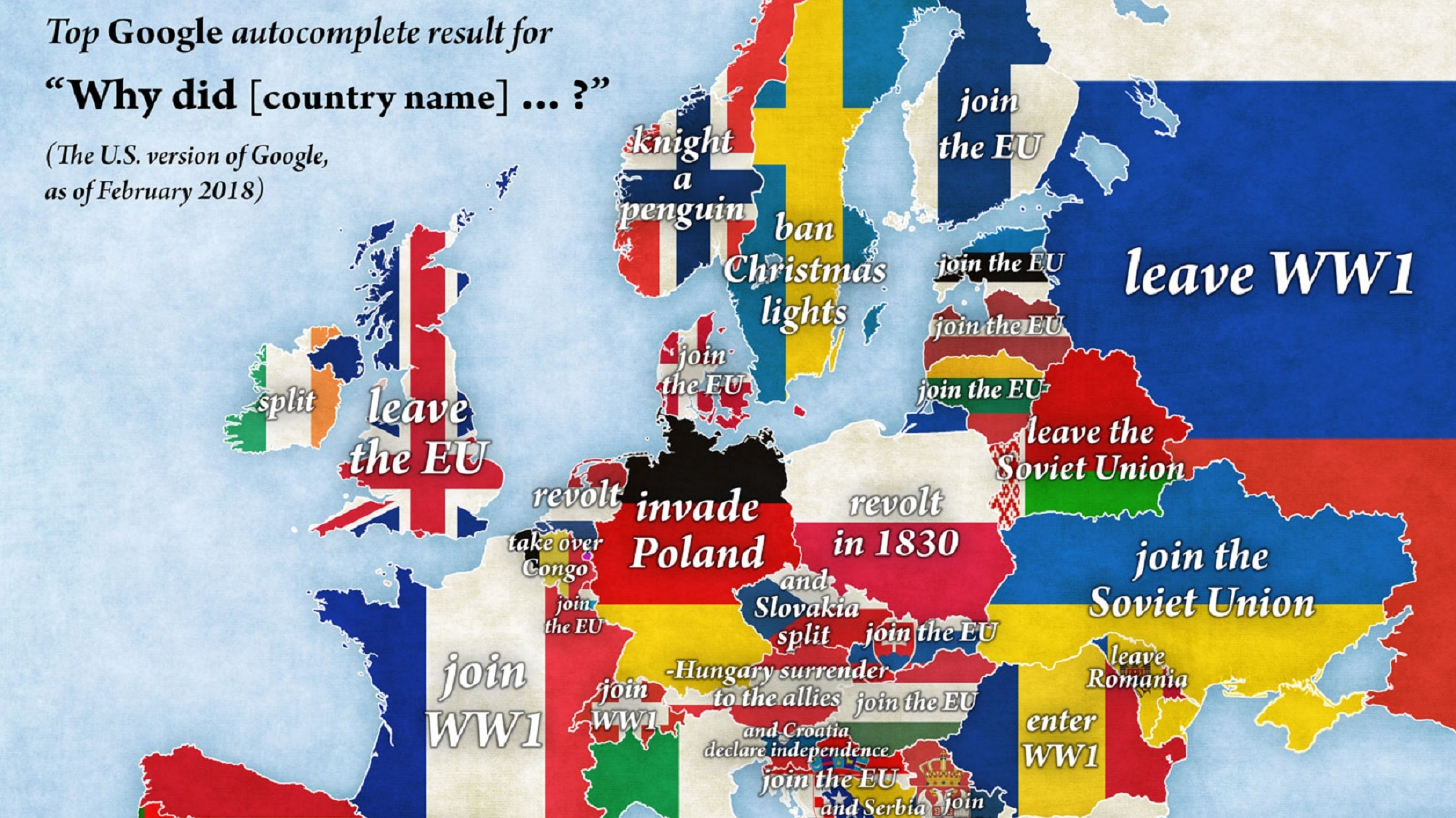 This Google Autocomplete Map Reveals A New Take On Europe Bt
