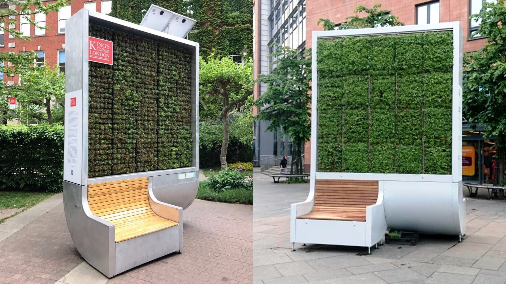 A Moss Covered Bench That Absorbs Air Pollution Is Being