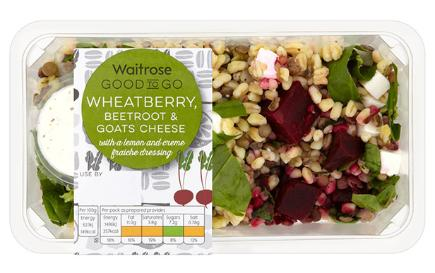 Waitrose Wheatberry Beetroot & Goats Cheese