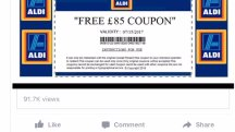 Warning: new Aldi voucher scam doing the rounds