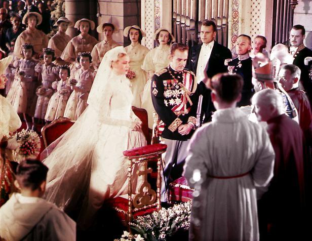 Grace Kelly married Prince Rainier of Monaco in April 1956.