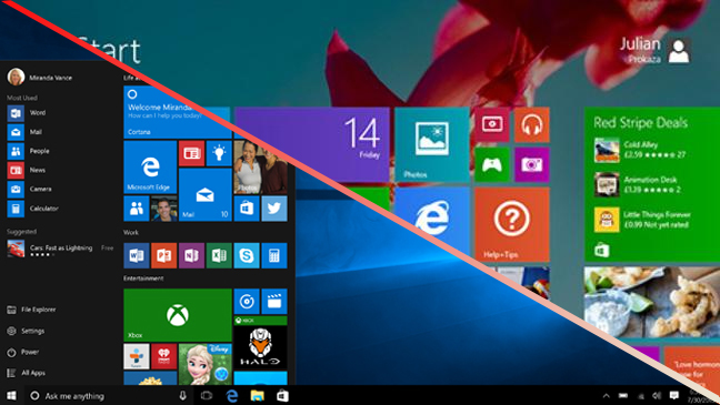 windows 8.1 home button missing