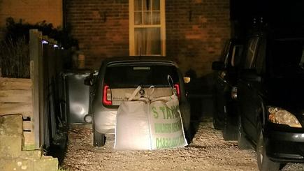 Woman fed up with strangers parking on her drive blocks one in with a tonne of gravel